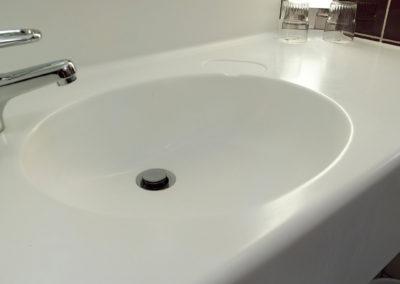 lavabo bagno corian arrotondato