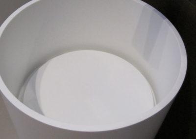 lavabo bagno corian rotondo