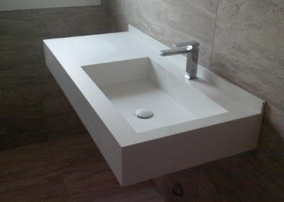 lavabo bagno corian