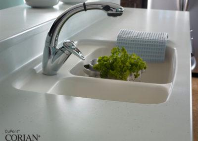 lavello cucina bianco corian