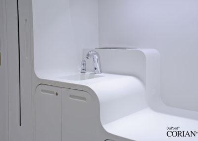 lavello ospedale corian
