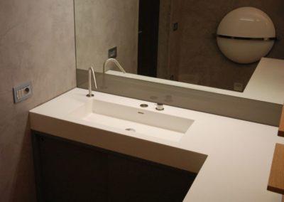 Top bagno corian